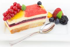 Cake with fruit jelly Royalty Free Stock Photos