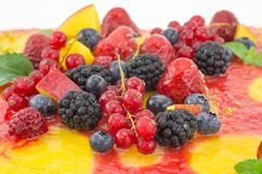 Cake with fruit jelly Royalty Free Stock Image