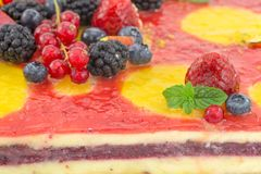 Cake with fruit jelly Stock Photography
