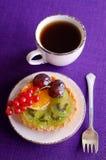 Cake with fruit Royalty Free Stock Image