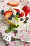 Cake and fruits Stock Photo