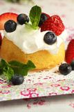 Cake and fruits Royalty Free Stock Photography