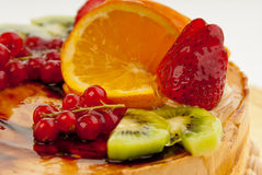 Cake with fruits Stock Photography
