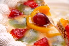 Cake with fruits Royalty Free Stock Images