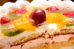 Cake with fruits Stock Photo