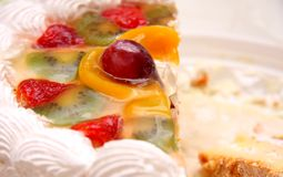 Cake with fruits Royalty Free Stock Photo