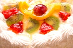 Cake with fruits Royalty Free Stock Photography