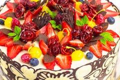 Cake fruits decoration Stock Photography