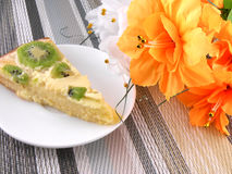 Cake with fruits and flowers Stock Image