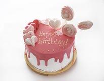 Cake Gelukkige Verjaardag Royalty-vrije Stock Foto's