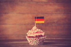 Cake with Germany flag Stock Photos