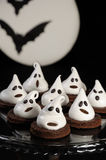 Cake ghosts for Halloween Stock Photography