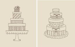 Cake and giflts Stock Photo