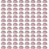 Cake gift card or cloth,npattern, repeating pattern, Stock Photo