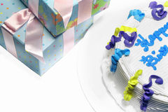 Cake And Gifts Royalty Free Stock Photo