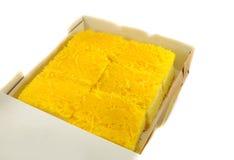 Cake golden threads Royalty Free Stock Photos