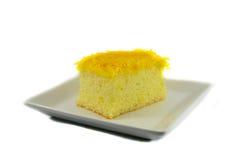 Cake golden threads Royalty Free Stock Photo