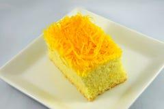 Cake golden threads Stock Image