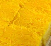 Cake gouden draden Royalty-vrije Stock Afbeeldingen