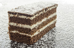 A cake on grated coconut Royalty Free Stock Images
