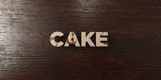 Cake - grungy wooden headline on Maple  - 3D rendered royalty free stock image. This image can be used for an online website banner ad or a print postcard Royalty Free Stock Photography