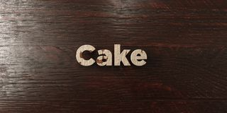 Cake - grungy wooden headline on Maple  - 3D rendered royalty free stock image. This image can be used for an online website banner ad or a print postcard Royalty Free Stock Photos