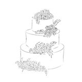 Cake for guests on holiday Royalty Free Stock Photo