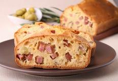 Cake with ham Royalty Free Stock Photos