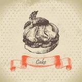 Cake. Hand drawn illustration Royalty Free Stock Photo