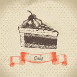 Cake. Hand drawn illustration Royalty Free Stock Image
