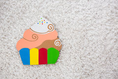 Cake handmade of paper on white background Stock Photography