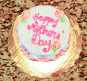 Cake. Happy birthday cake with pink letter Royalty Free Stock Image