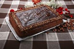 Cake hazelnuts Stock Image