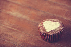 Cake with heart. Royalty Free Stock Photography