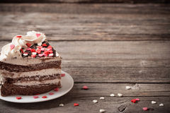 Cake with hearts Royalty Free Stock Photography