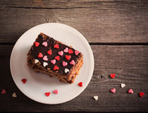 Cake with hearts Stock Image
