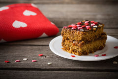 Cake with hearts Royalty Free Stock Photos