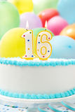 Cake het Vieren 16de Verjaardag Stock Foto