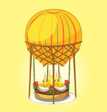 Cake on a hot air balloon Stock Image