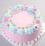 cake or Ice cream birthday cake on a background. royalty free stock image