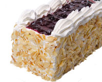 Cake, Ice-cream cake on background Stock Images