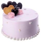 Cake, Ice-cream cake on background Royalty Free Stock Images