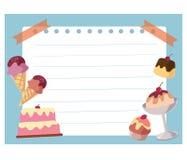 Cake and ice cream frame background Stock Photo