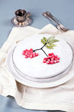 Cake with icing decoration Stock Photos