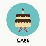 Cake icon Stock Photos