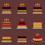 Cake icon for Halloween Party Royalty Free Stock Photos