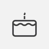 Cake icon, logo illustration, group pictogram isolated on white. Royalty Free Stock Images