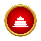 Cake icon in simple style. On a white background Royalty Free Stock Image