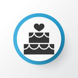 Cake Icon Symbol. Premium Quality Isolated Pastry Element In Trendy Style. Stock Image