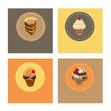Cake icons Royalty Free Stock Photos